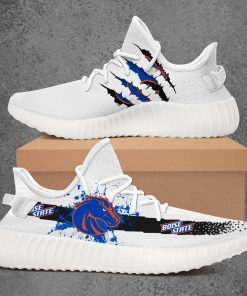 BOISE STATE BRONCOS NCAA LIMITED EDITION WHITE YEEZY SNEAKER RUNNING BOOTS VER 2