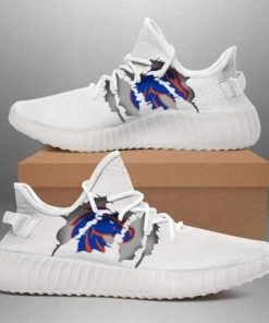 BOISE STATE BRONCOS NCAA LIMITED EDITION WHITE YEEZY SNEAKER RUNNING BOOTS VER 3