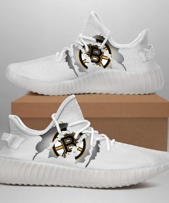 BOSTON BRUINS LIMITED EDITION WHITE YEEZY SNEAKER SHOES