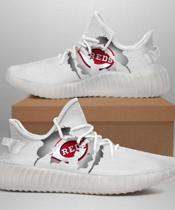 CINCINNATI REDS LIMITED EDITION WHITE YEEZY SNEAKER SHOES
