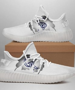 COLORADO ROCKIES LIMITED EDITION WHITE YEEZY SNEAKER SHOES