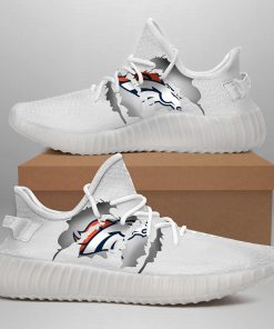 DENVER BRONCOS LIMITED EDITION WHITE YEEZY SNEAKER SHOES