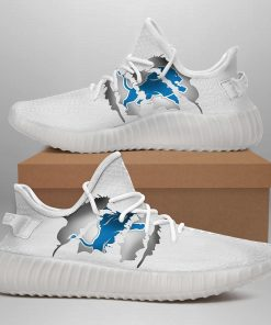 DETROIT LIONSV LIMITED EDITION WHITE YEEZY SNEAKER SHOES