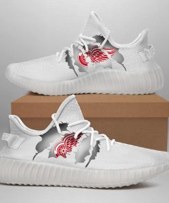 DETROIT RED WINGS LIMITED EDITION WHITE YEEZY SNEAKER