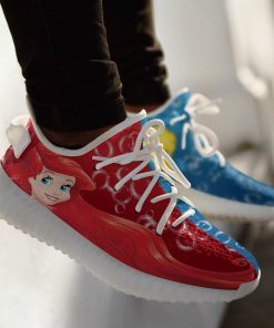 DISNEY THE LITTLE MERMAID ARIEL LIMITED EDITION WHITE YEEZY SNEAKER RUNNING BOOTS