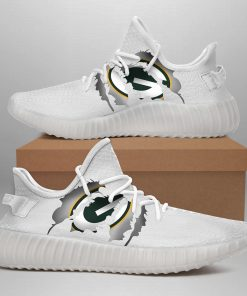 GREEN BAY PACKERS LIMITED EDITION WHITE YEEZY SNEAKER SHOES
