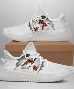 HOUSTON ASTROS LIMITED EDITION WHITE YEEZY SNEAKER SHOES