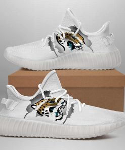 JACKSONVILLE JAGUARS LIMITED EDITION WHITE YEEZY SNEAKER SHOES