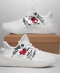 KANSAS CITY CHIEFS LIMITED EDITION WHITE YEEZY SNEAKER SHOES
