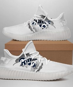 LOS ANGELES RAMS WHITE LIMITED EDITION YEEZY SNEAKER GIFT FOR LOS ANGELES RAMS FAN