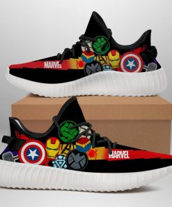 MARVEL HEROES LIMITED EDITION WHITE YEEZY SNEAKER RUNNING BOOTS