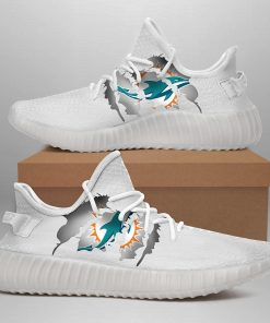 MIAMI DOLPHINS LIMITED EDITION WHITE YEEZY SNEAKER SHOES