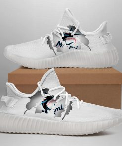 MIAMI MARLINS LIMITED EDITION WHITE YEEZY SNEAKER SHOES