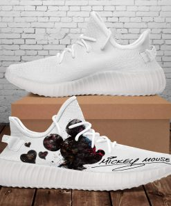 MICKEY MOUSE HEART WHITE YEEZY SHOES
