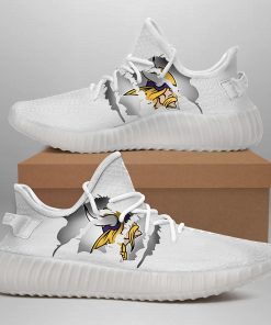 MINNESOTA VIKINGS LIMITED EDITION WHITE YEEZY SNEAKER SHOES