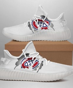 MONTREAL CANADIENS LIMITED EDITION WHITE YEEZY SNEAKER