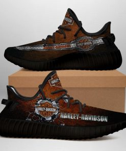 MOTOR HARLEY DAVIDSON CYCLES LIMITED EDITION BLACK YEEZY SNEAKER RUNNING BOOTS