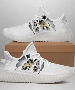 NEW ORLEANS SAINTS LIMITED EDITION WHITE YEEZY SNEAKER SHOES