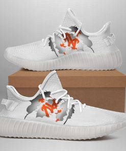 NEW YORK METS LIMITED EDITION WHITE YEEZY SNEAKER SHOES