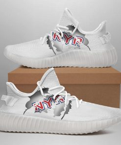 NEW YORK RANGERS LIMITED EDITION WHITE YEEZY SNEAKER