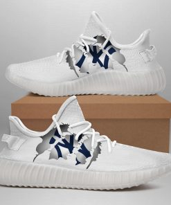 NEW YORK YANKEES LIMITED EDITION WHITE YEEZY SNEAKER SHOES