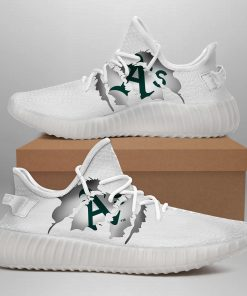OAKLAND ATHLETICS LIMITED EDITION WHITE YEEZY SNEAKER SHOES