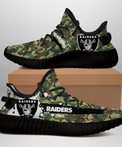 OAKLAND RAIDERS LIMITED EDITION CAMO YEEZY SNEAKER RUNNING BOOTS