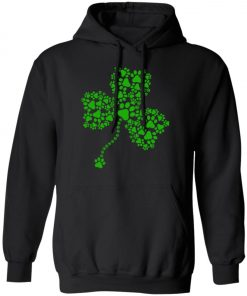 Dog Paw Shamrock Lucky Glover Pullover Hoodie