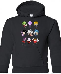 Dragonball Chibi Sticker Jiren Goku Premium Youth Hoodie