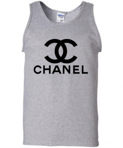Logo Chanel Black Tank Top