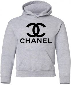 Logo Chanel Black Premium Youth Hoodie
