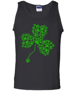 Dog Paw Shamrock Lucky Glover Tank Top