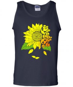Face Jack Skellington Sunflower You Are My Sunshine Tank Top