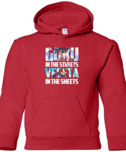 Goku In The Streets Vegeta In The Sheets Premium Youth Hoodie