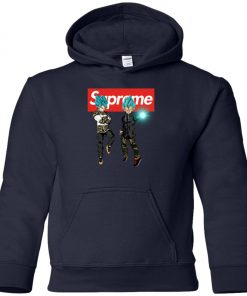 Goku And Vegeta Blue Hypebeast Supreme Premium Youth Hoodie