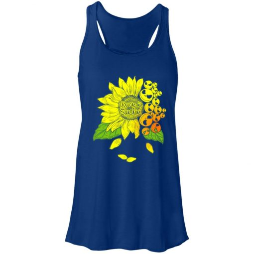 Face Jack Skellington Sunflower You Are My Sunshine Women's Tank Top
