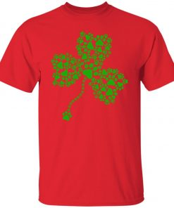 Dog Paw Shamrock Lucky Glover Unisex T-Shirt