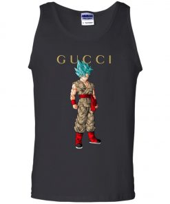 Gucci x Dragonball Goku Blue Tank Top