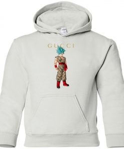 Gucci x Dragonball Goku Blue Premium Youth Hoodie