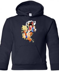 SSJ Goku Vs Luffy Premium Youth Hoodie