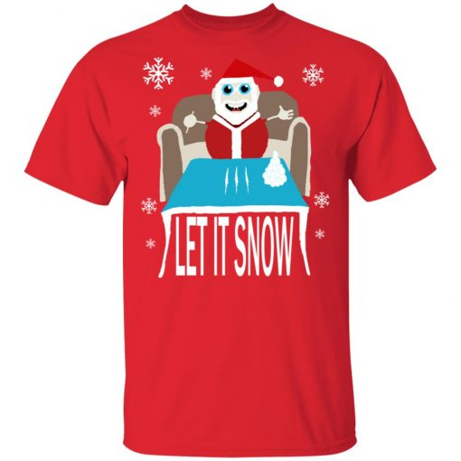 Cocaine Santa Let It Snow Christmas Sweater Unisex T-Shirt