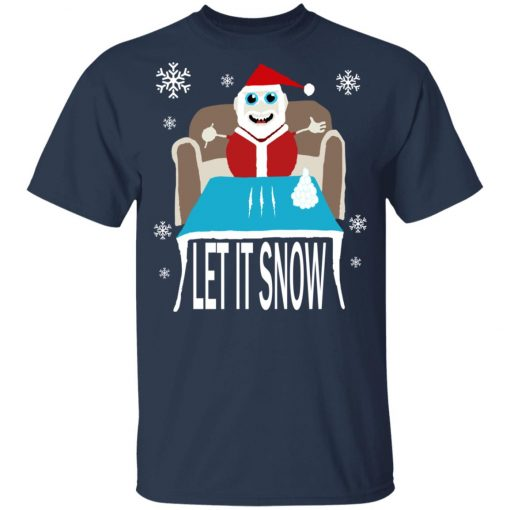 Cocaine Santa Let It Snow Christmas Sweater Youth Kid T-Shirt