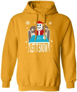 Cocaine Santa Let It Snow Christmas Sweater Pullover Hoodie
