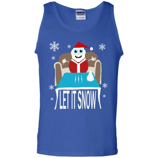 Cocaine Santa Let It Snow Christmas Sweater Tank Top