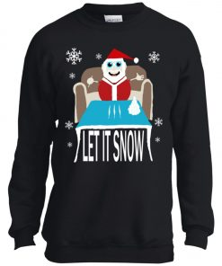 Cocaine Santa Let It Snow Christmas Sweater Youth Sweatshirt