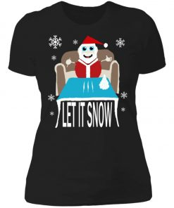 Cocaine Santa Let It Snow Christmas Sweater Women's T-Shirt