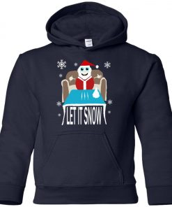 Cocaine Santa Let It Snow Christmas Sweater Premium Youth Hoodie