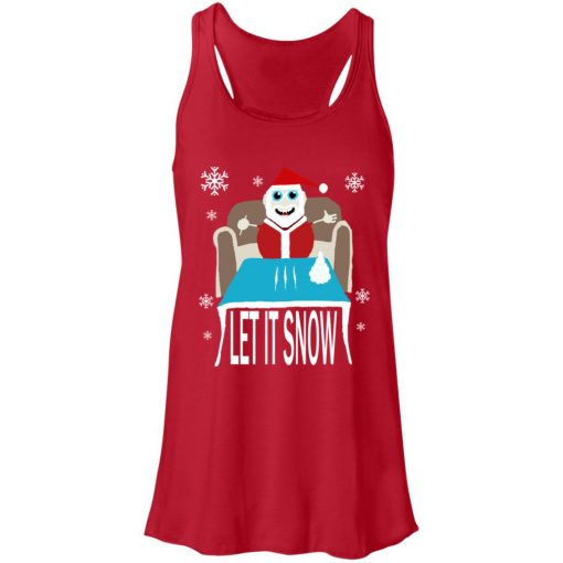 Cocaine Santa Let It Snow Christmas Sweater Women's Tank Top