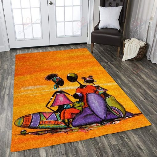 African Woman Rug