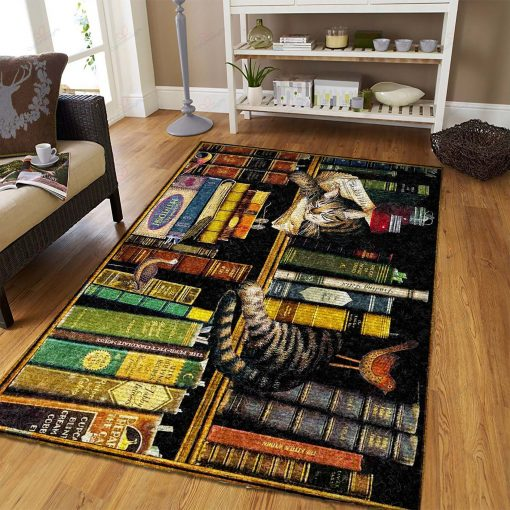 Book And Cat Rug